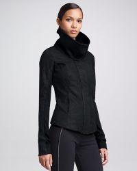 Donna Karan New York Rubberized Leather Jacket - Lyst