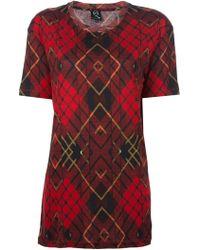 McQ by Alexander McQueen Triangle Tartan Tshirt - Lyst