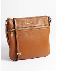 MICHAEL Michael Kors Bedford Flat Leather Crossbody Bag - Lyst