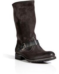NDC | Suede Biker Mid Boots in Lavagna | Lyst