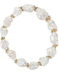 Yvel - White Baroque Fresh Water Pearl Necklace - Lyst