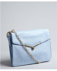 Botkier Sky Blue Leather Valentina Shoulder Bag - Lyst