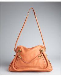 Chloé Suntan Leather Paraty Large Top Handle Bag - Lyst