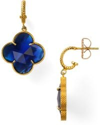 Coralia Leets - Cobalt Blue Clover Earrings - Lyst