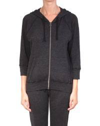 James Perse Supina Cotton Hooded Sweatshirt - Lyst