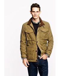 J.Crew British Millerain Waxed Cotton Field Jacket - Lyst