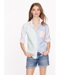 J.Crew Boy Shirt in Mixed Oxford - Lyst
