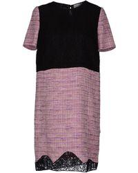 Peter Som Short Dress black - Lyst