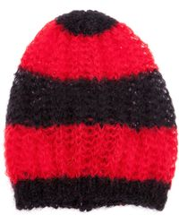 Saint Laurent - Striped Beanie Hat - Lyst
