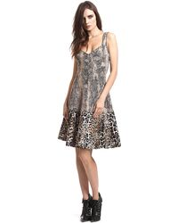 Tracy Reese Sleeveless Printed Fitandflare Dress - Lyst