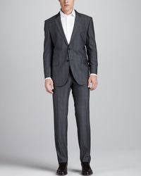 Hugo Boss Tonal Plaid Suit - Lyst