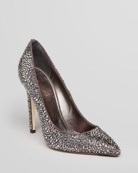 Le Silla Pointed Toe Pumps Crystal Studded High Heel - Lyst