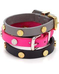 Marc By Marc Jacobs Turnlock Leather Wrap Bracelet - Lyst