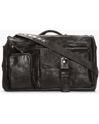 Marsèll - Black Metallic Nubuck Messenger Bag - Lyst