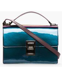 Mugler - Purple Iridescent Ette Medium Bag - Lyst
