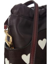 Burberry Prorsum | Little Crush Leather and Calf Hair Bag | Lyst