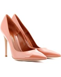Gianvito Rossi Patentleather Pumps - Lyst