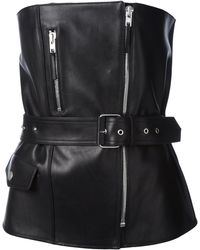 Jean Paul Gaultier Leather Bustier - Lyst