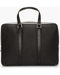 KENZO - Black Etched Leather 48h Briefcase - Lyst