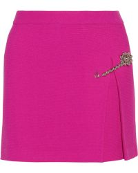 Moschino Cheap & Chic Ribbed Wool Mini Skirt - Lyst