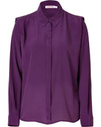 See By Chloé Silk Structured Shoulder Blouse - Lyst