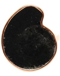 Dezso by Sara Beltran - Rose Gold and Black Fossil Ring - Lyst