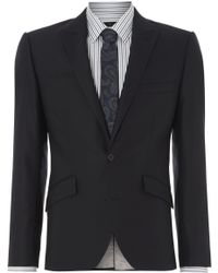 Kenneth Cole Watts Stretch Slim Fit Twill Peak Suit Jacket - Lyst