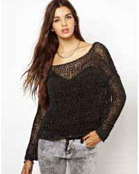 Muubaa - Knitted Suede Sweater - Lyst