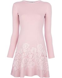Valentino Longsleeved Lace Dress - Lyst