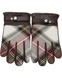 Vivienne Westwood | Tartan and Nappa Gloves | Lyst