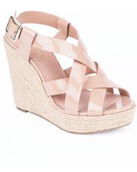 Jones Bootmaker - Kendra High Wedge Heeled Sandals - Lyst