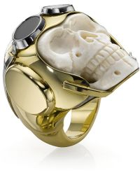 Theo Fennell | Lost Flyer Skull Ring | Lyst