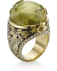 Theo Fennell - Green Beryl Rainforest Opening Ring - Lyst