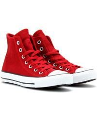 Converse Chuck Taylor All Star Suede Hightop Sneakers - Lyst