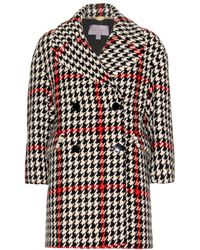 Mulberry Houndstooth Pea Coat - Lyst