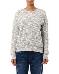 Vanessa Bruno Athé - Textured Knit Sweatshirt - Lyst