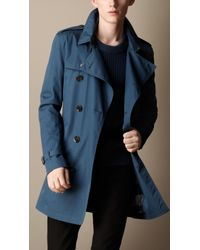 Burberry Mid Length Cotton Trench Coat - Lyst