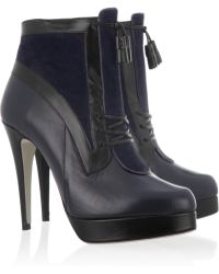 Jason Wu - Two Tone Leather and Suede Ankle Boots - Lyst