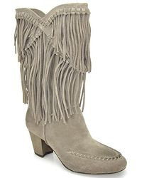 7 For All Mankind - Caddie Mushroom Suede Fringe Boot - Lyst