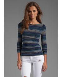 Bailey 44 Mercury Striped Top in Blue - Lyst
