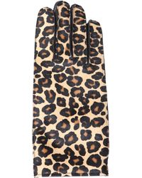 Burberry Prorsum Leopardprint Calf Hair Gloves - Lyst