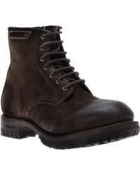 DSquared² - Distressed Laceup Boot - Lyst