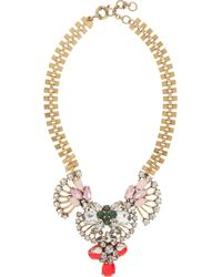 J.Crew Goldplated Crystal Necklace - Lyst