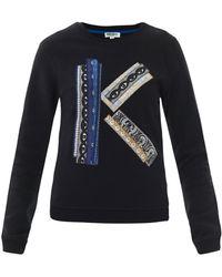 Kenzo Ribbon K Cotton Sweatshirt blue - Lyst