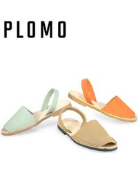 Plomo - Abarca Menorquina Apple Leather Slingback Sandal - Lyst