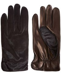 Simon Carter - Black Leather and Ponyskin Gloves - Lyst
