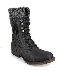 Steve Madden Jaax - Black Leather Combat Boot - Lyst
