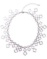 Akira Honeycomb Necklace in Silver - Lyst
