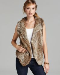 Joie Vest Andoni Knitted Fur - Lyst