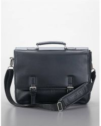 Kenneth Cole Reaction Leather Flap Portfolio Briefcase - Lyst